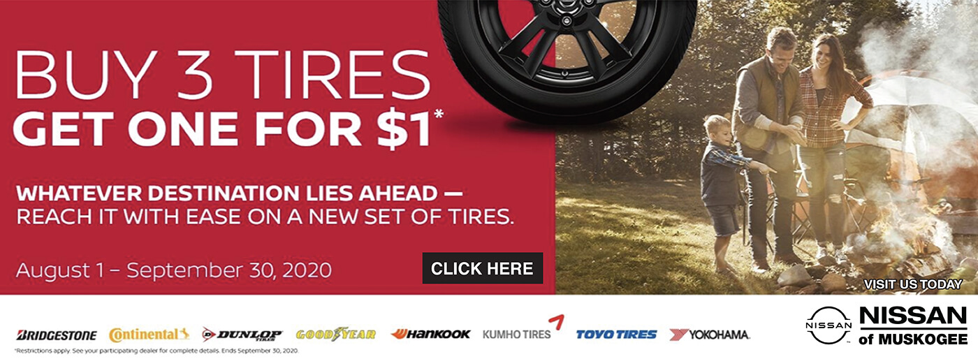 Nissan buy 3 tires 1125